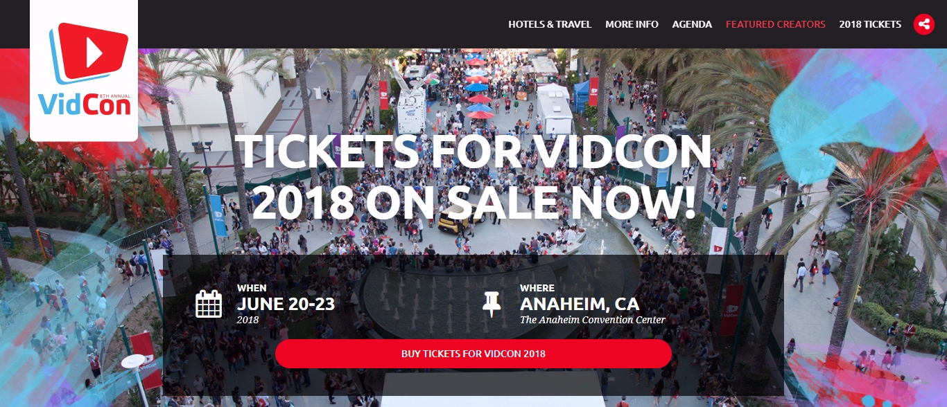 Tickets for vidcon