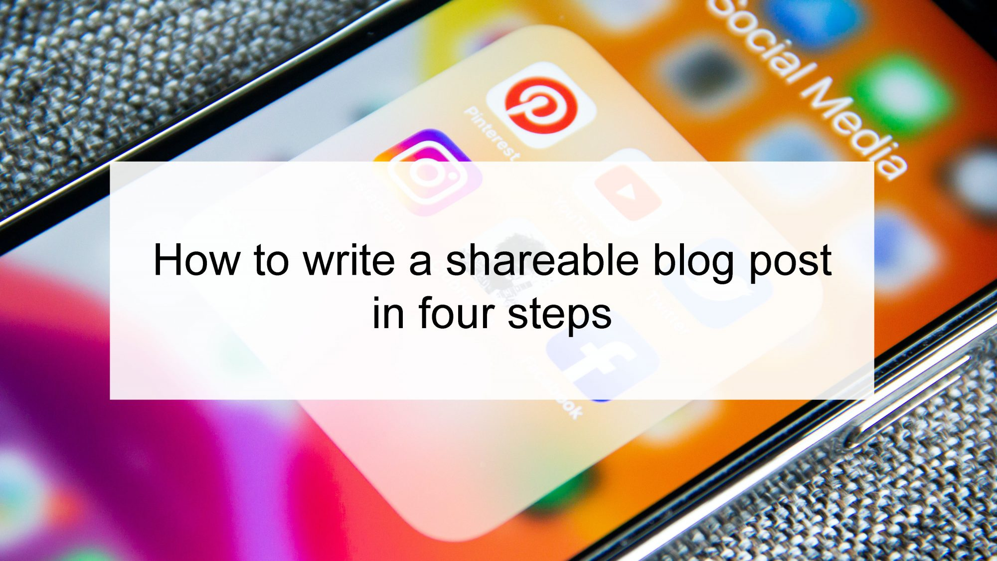 How to Write a Shareable Blog Post in Four Steps