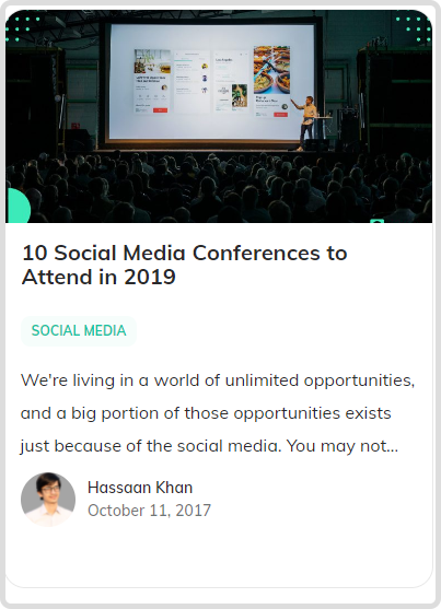 social media conferences- blog