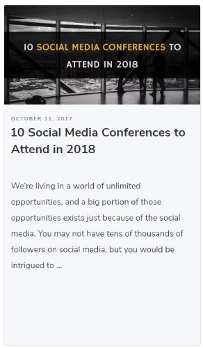 social media conference post
