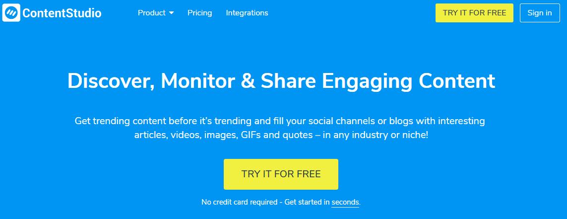 Content sharing - Contentstudio