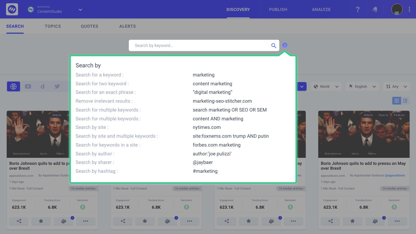 social marketing tools - ContentStudio