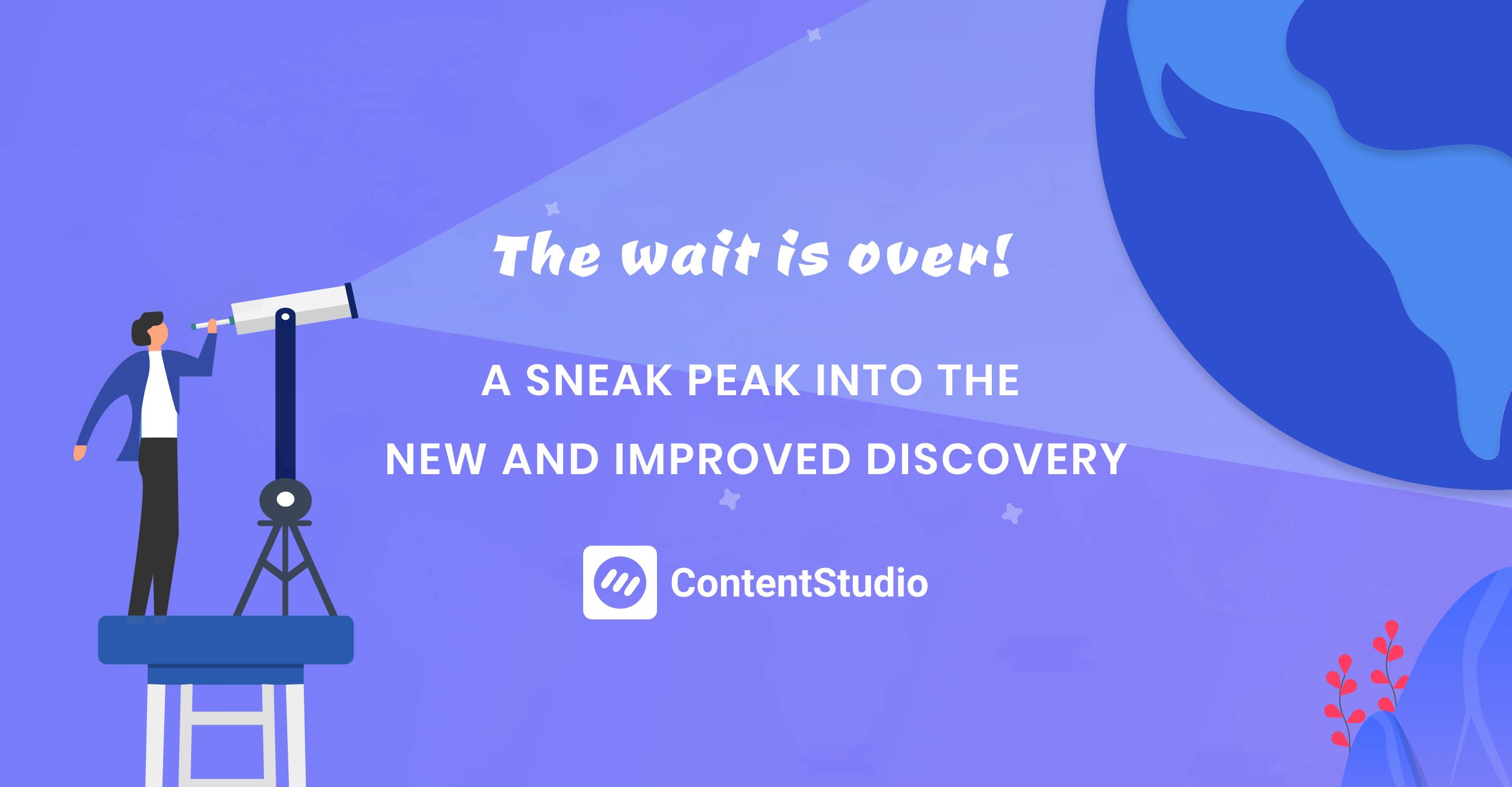 Content discovery - ContentStudio