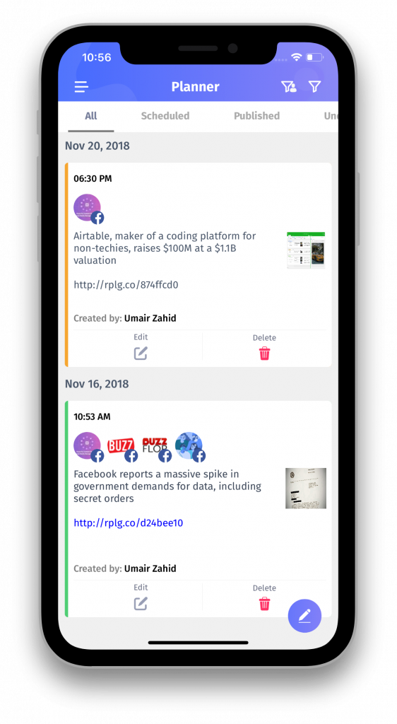Content planning - ContentStudio