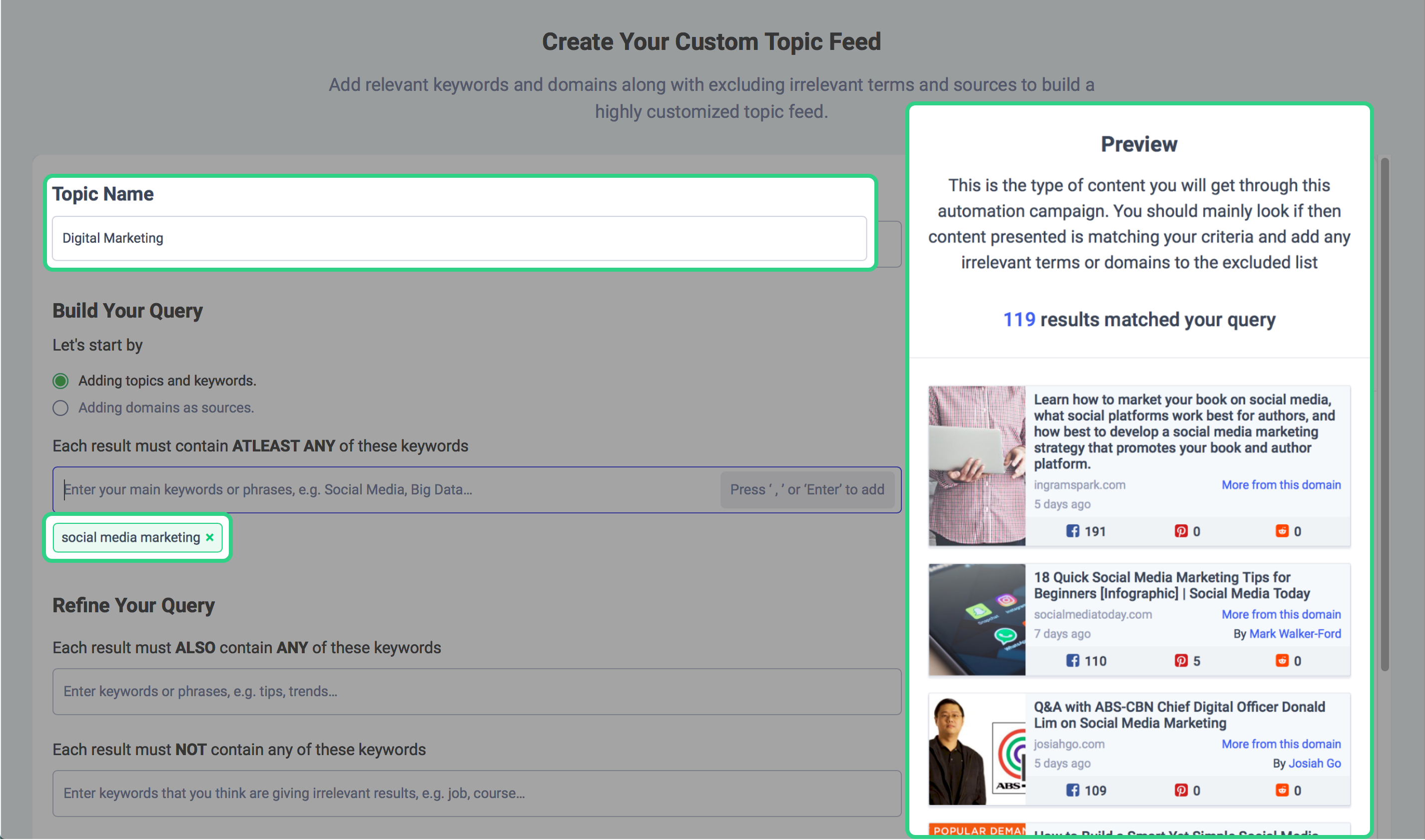 social media planning tools - ContentStudio