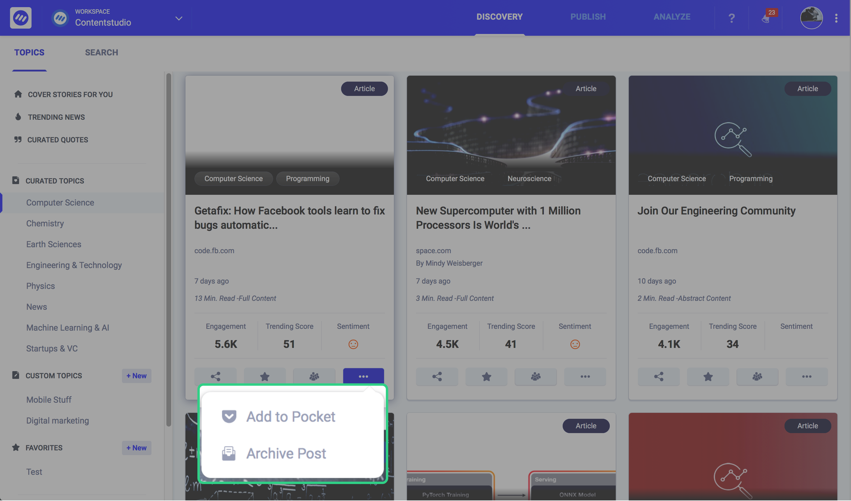 best social media scheduling tools - ContentStudio