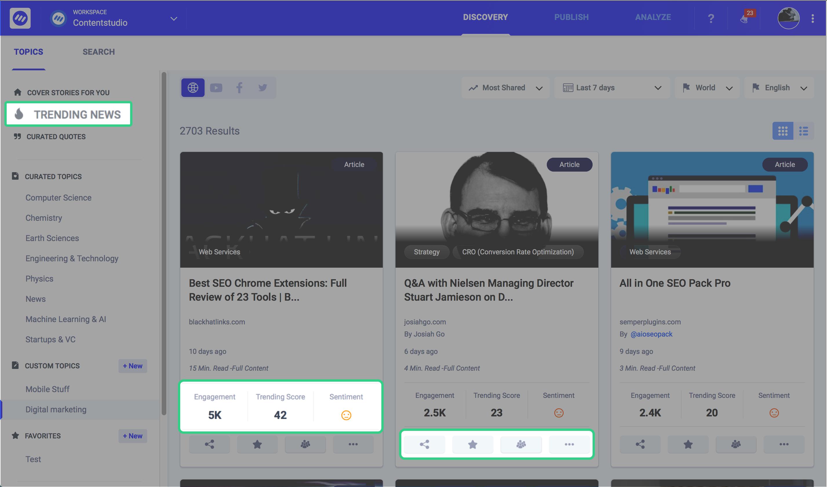 social media content marketing - ContentStudio