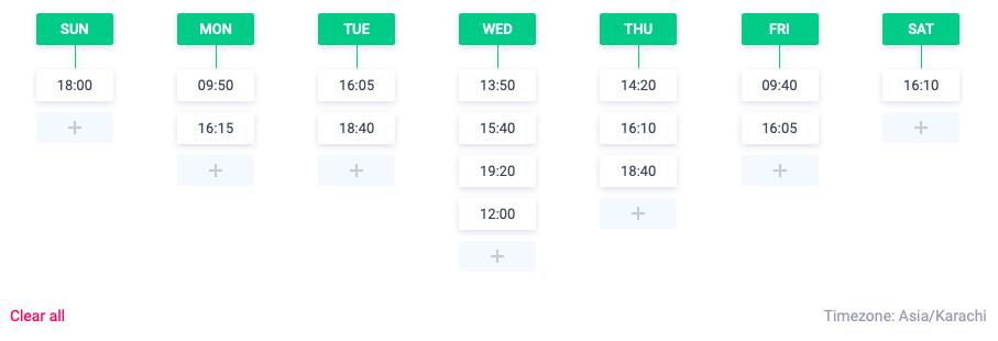 Custom Scheduler - ContentStudio