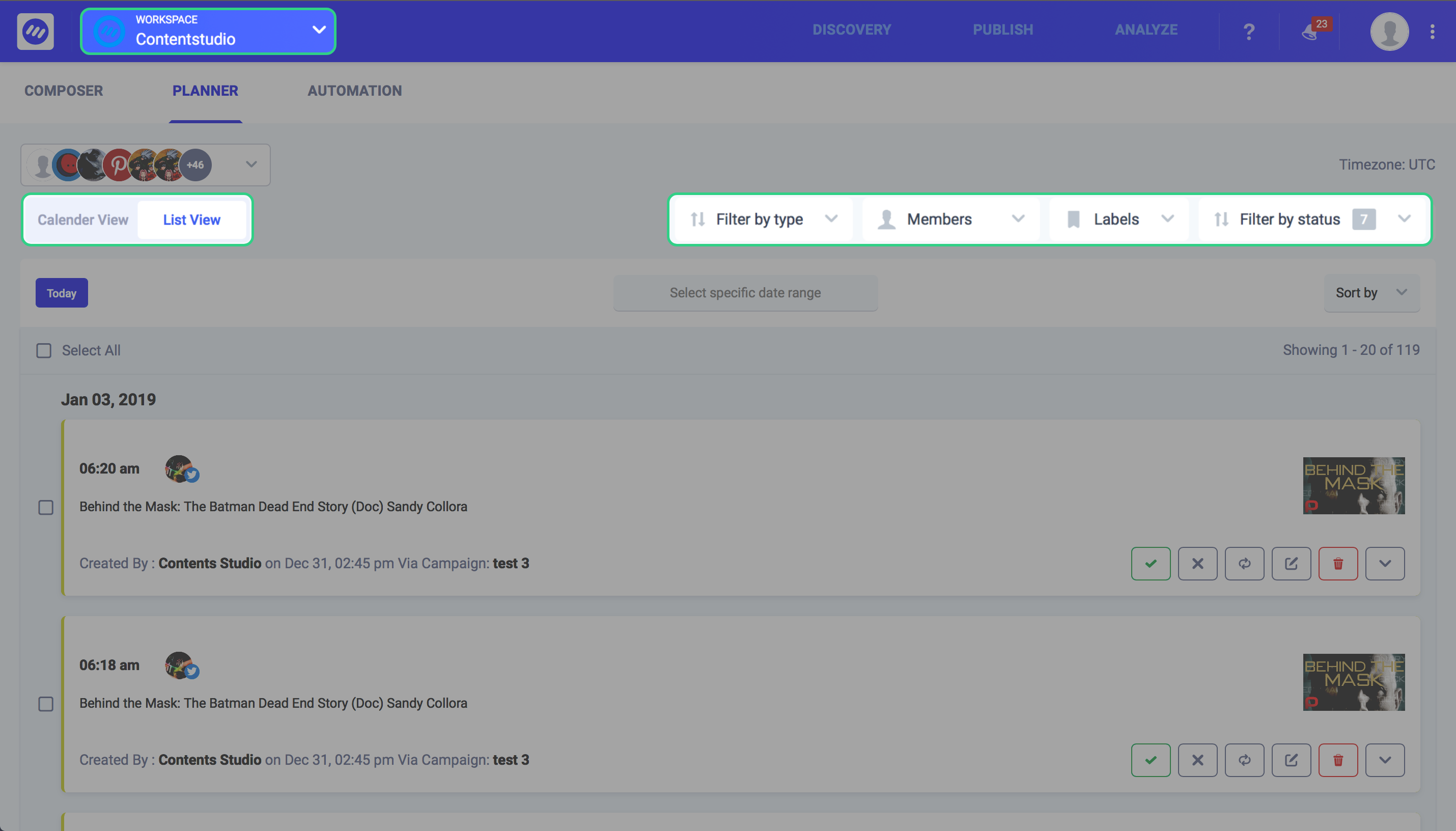 content marketing tools - ContentStudio