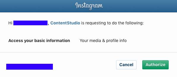 ContentStudio - Instagram Integration
