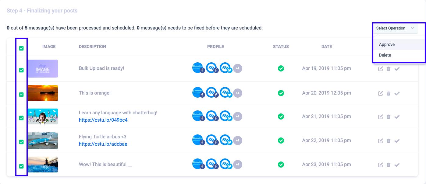 Bulk Scheduling in ContentStudio