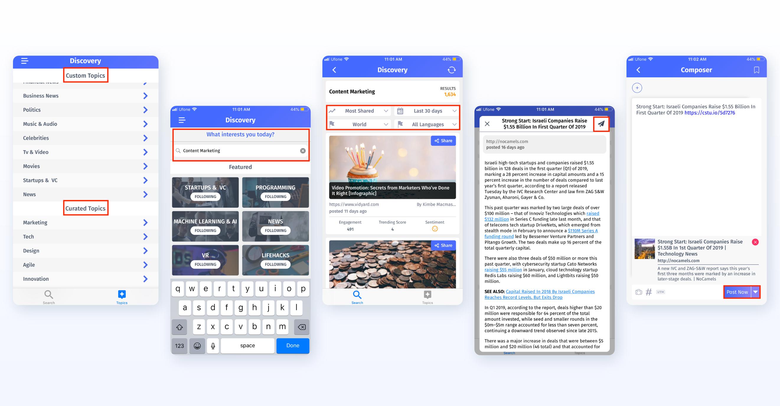 ContentStudio Discovery - Mobile App