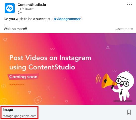 LinkedIn Upload - ContentStudio