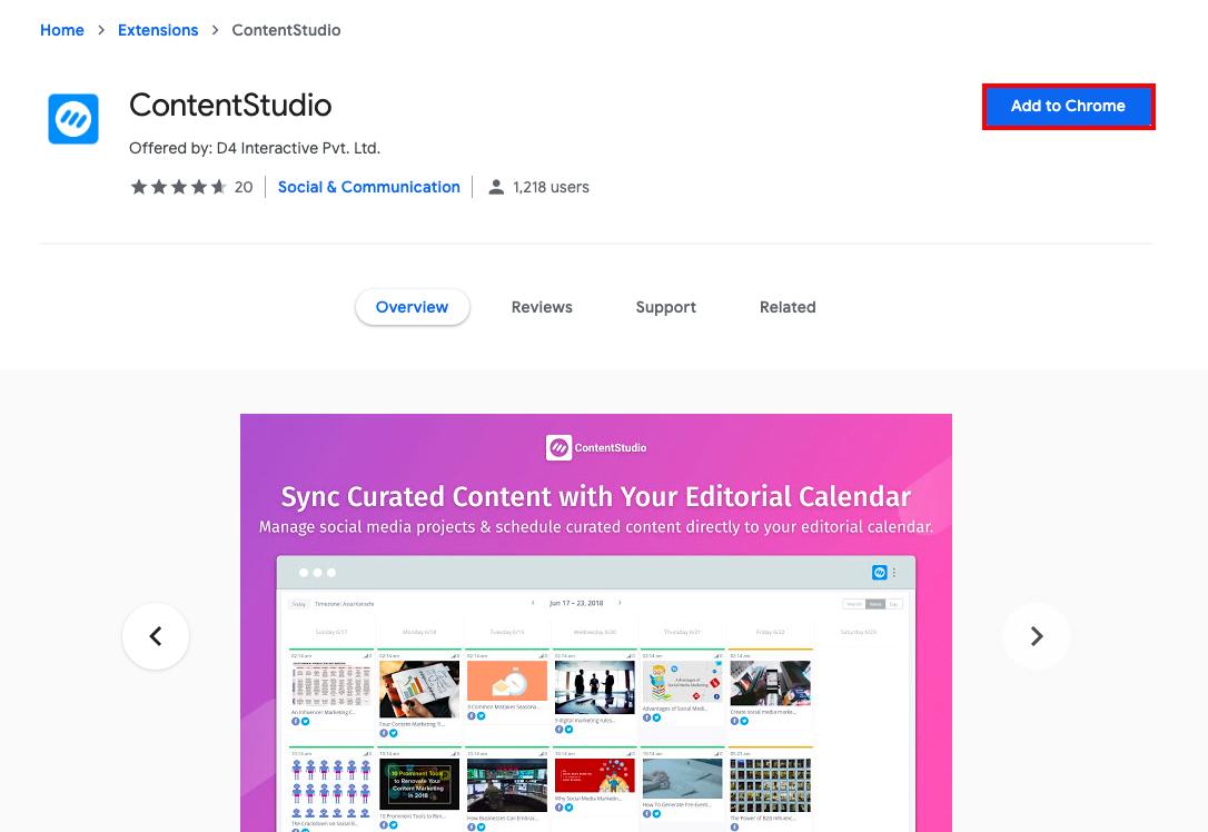 ContentStudio Chrome Extension