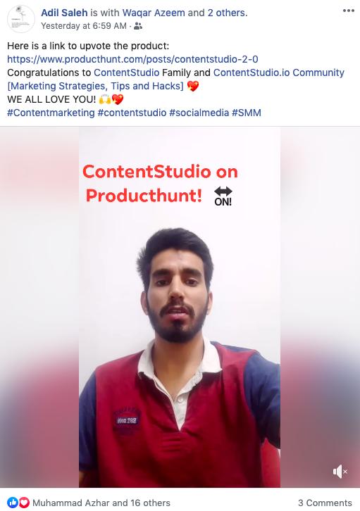 Social Sharing - PH - ContentStudio