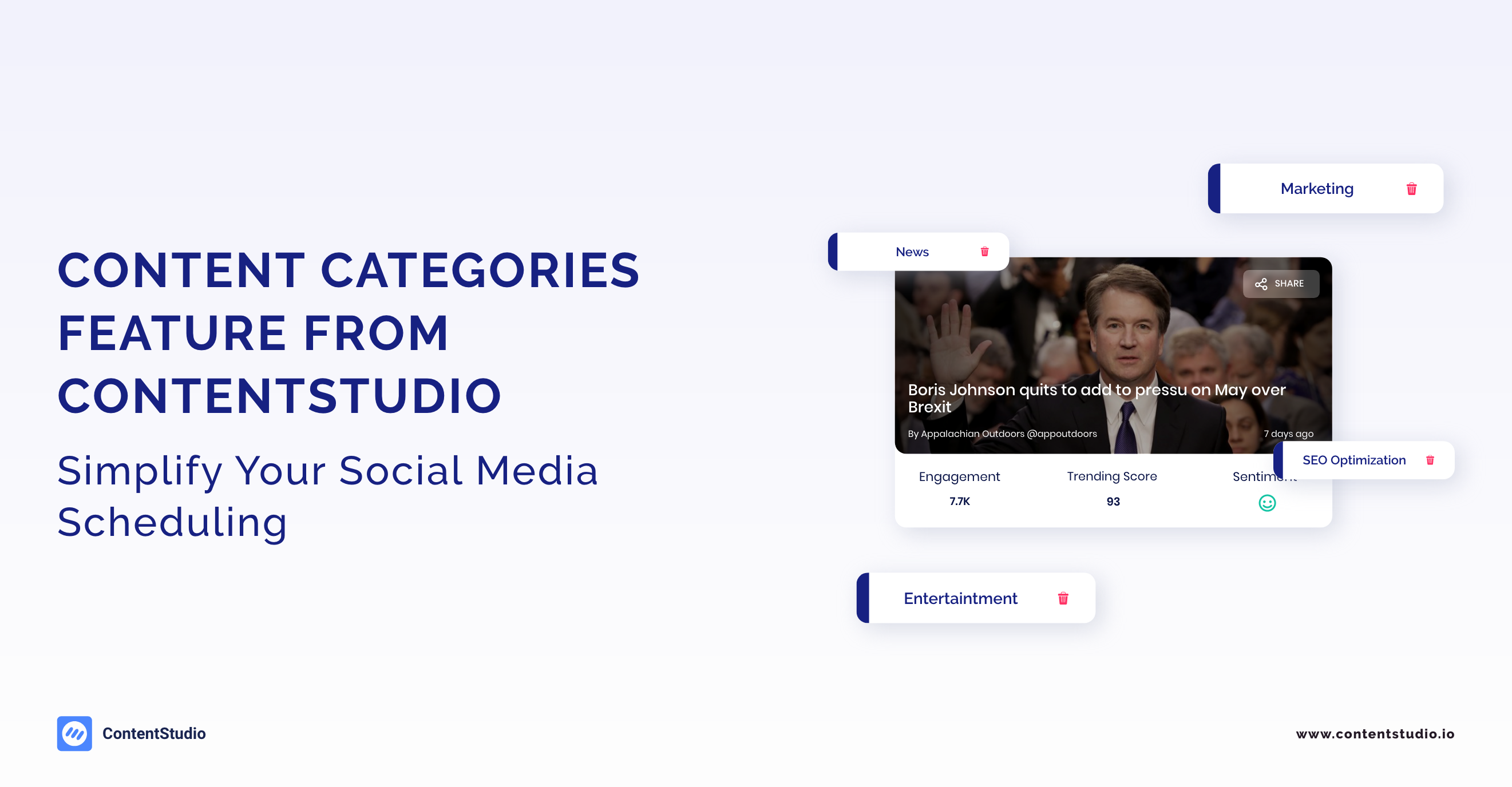 Content Categories - ContentStudio