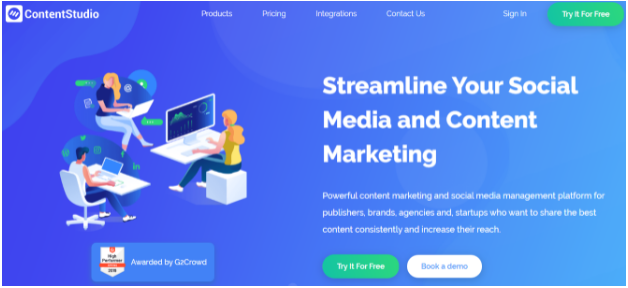 ContentStudio - social media scheduling and posting tool