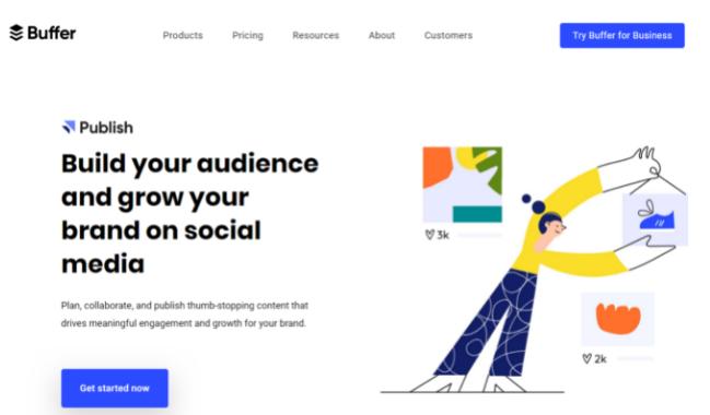 Buffer- social media tool to grow audience