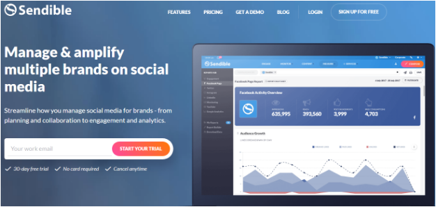 Sendible- to amplify your brands on social media