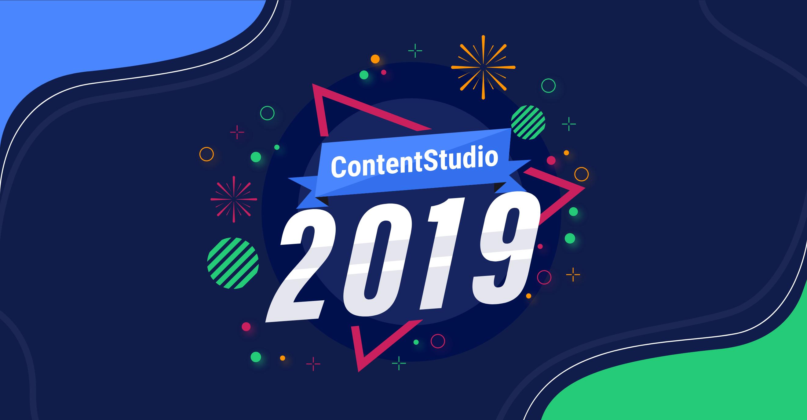 ContentStudio in 2019