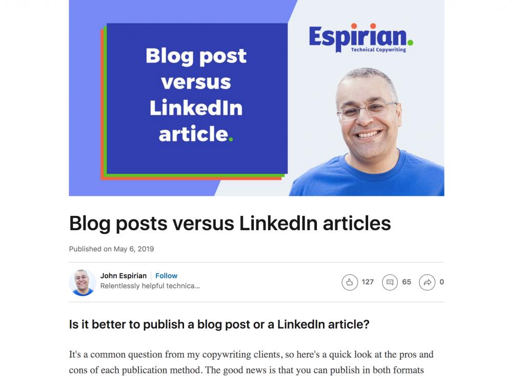 LinkedIn post - ContentStudio