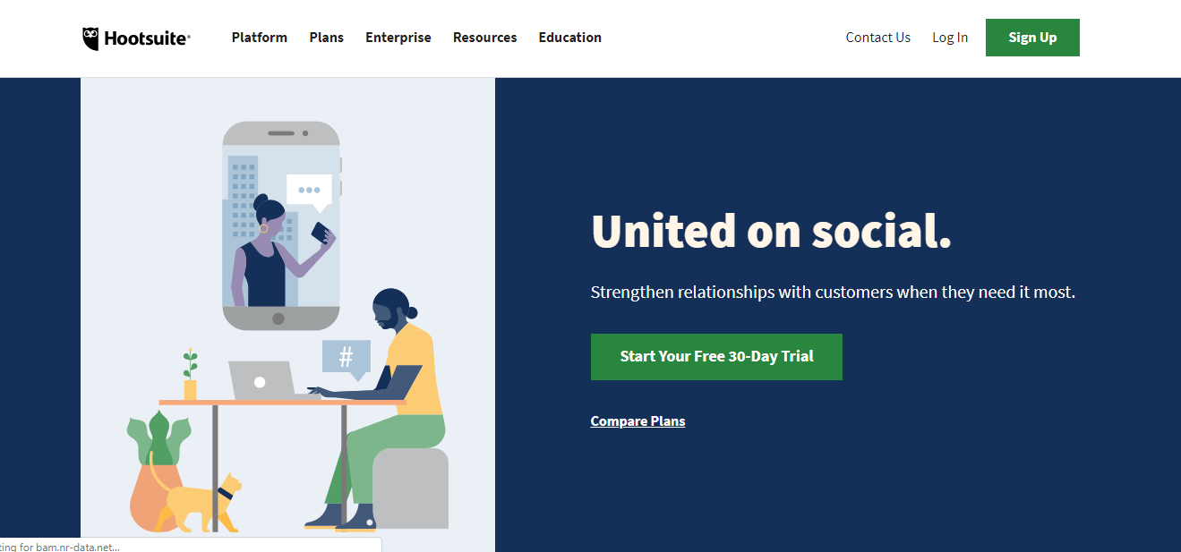 Hootsuite- social media platform