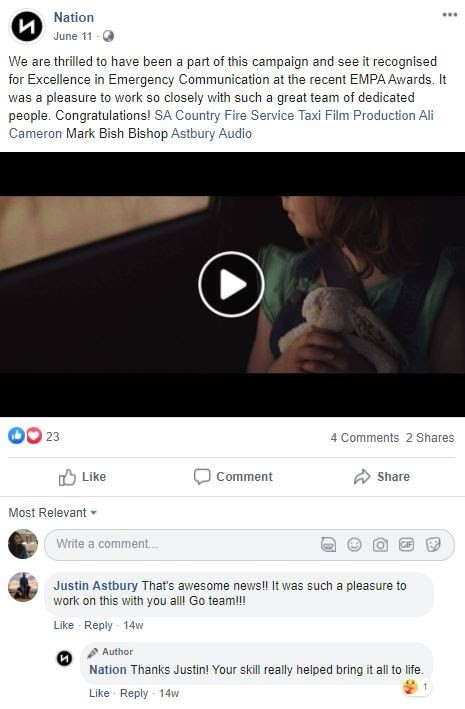 video posting on social channels