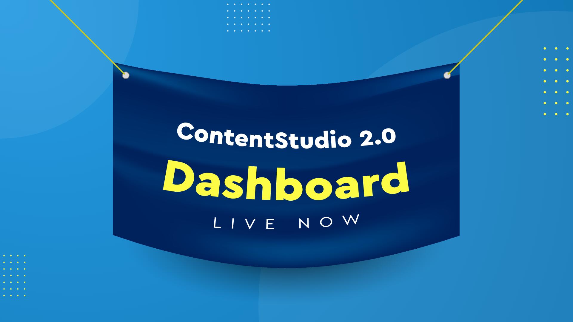 ContentStudio Dashboard