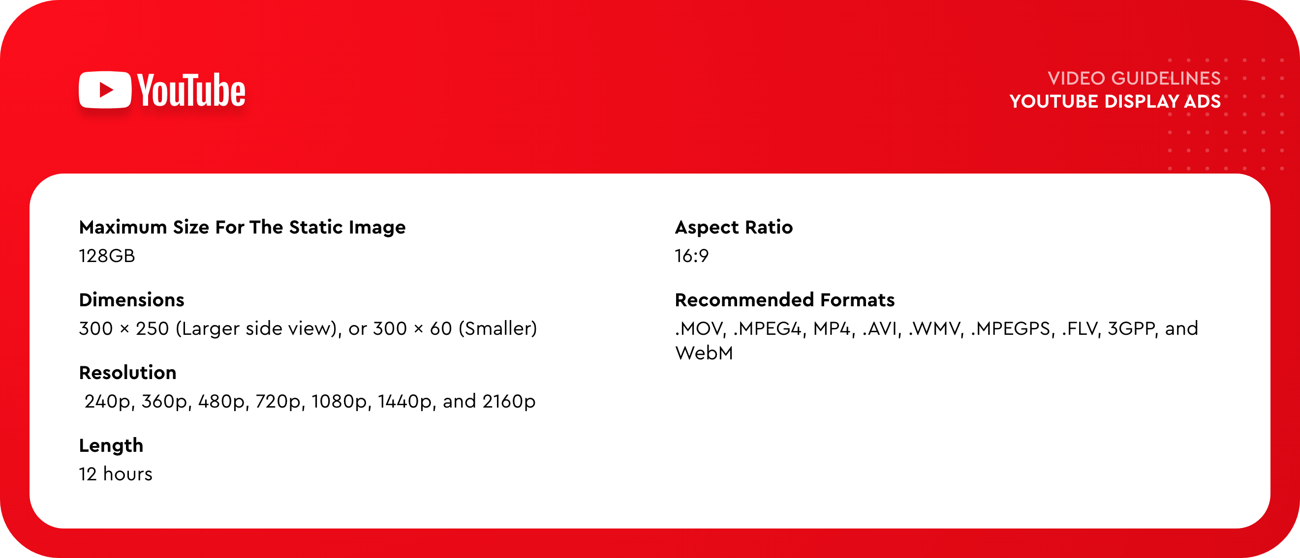 Youtube display ad size and specs
