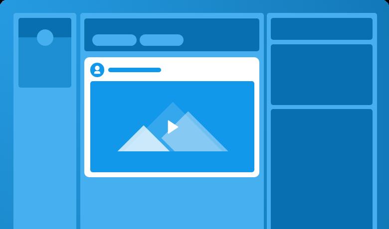 LinkedIn video vector