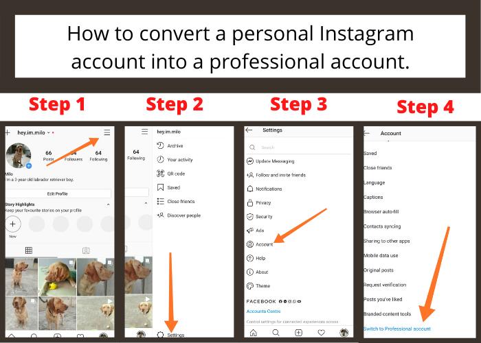 create Instagram business account