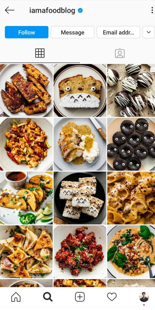 Instgaram food blogger