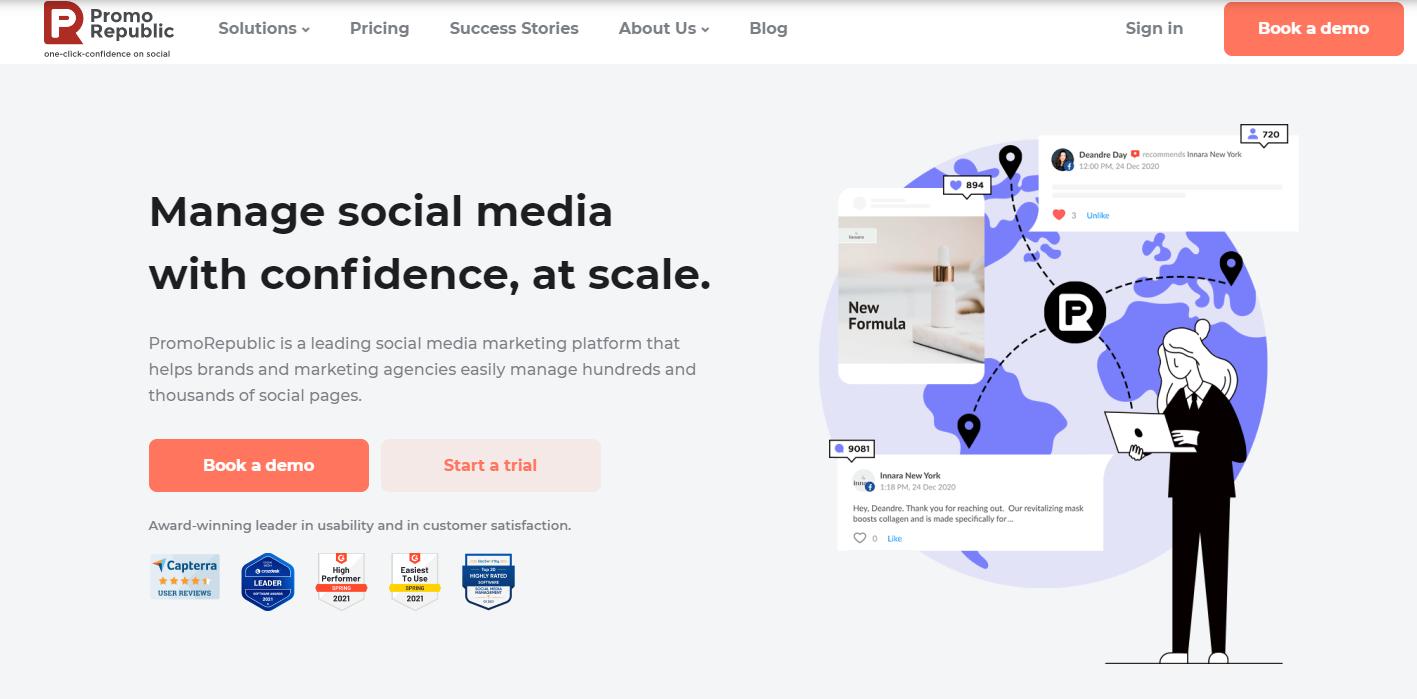 promorepublic social media management tool