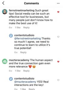 Instagram post comments