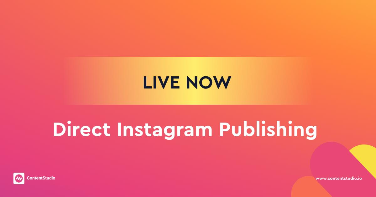 Facebook-Direct Instagram Posting