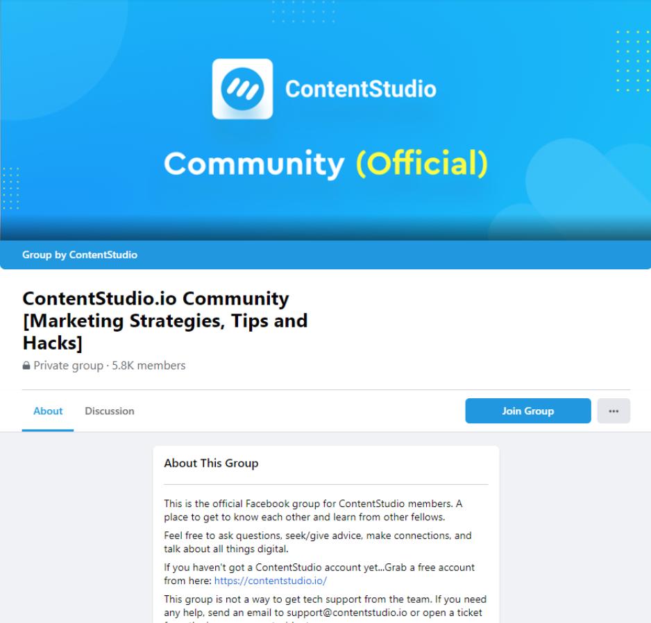 contentstudio community