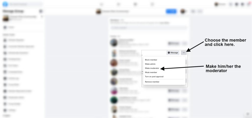 how to make facebook group moderator