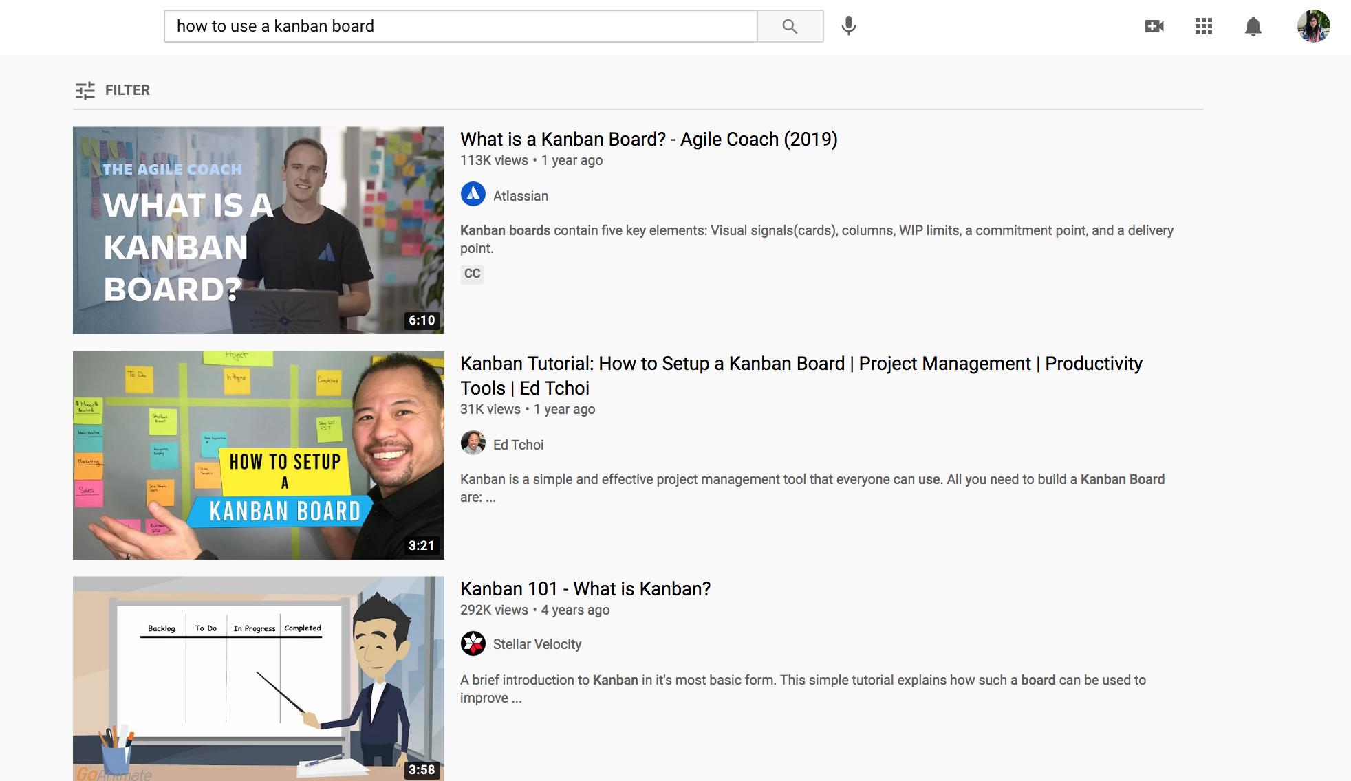 Google search vs youtube search