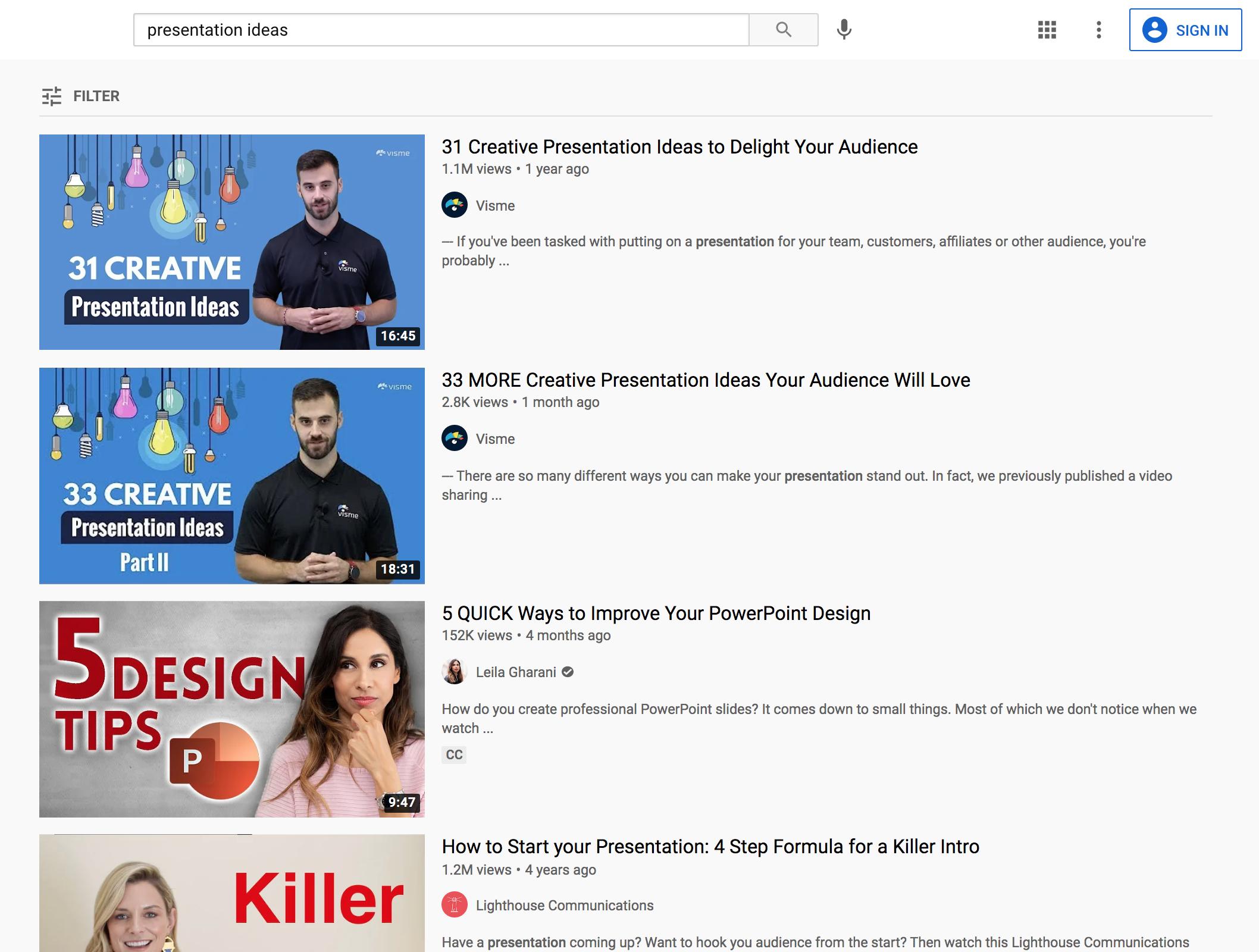 youtube video design