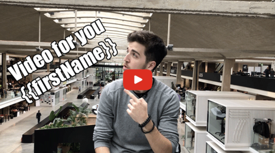personalized video thumbnail