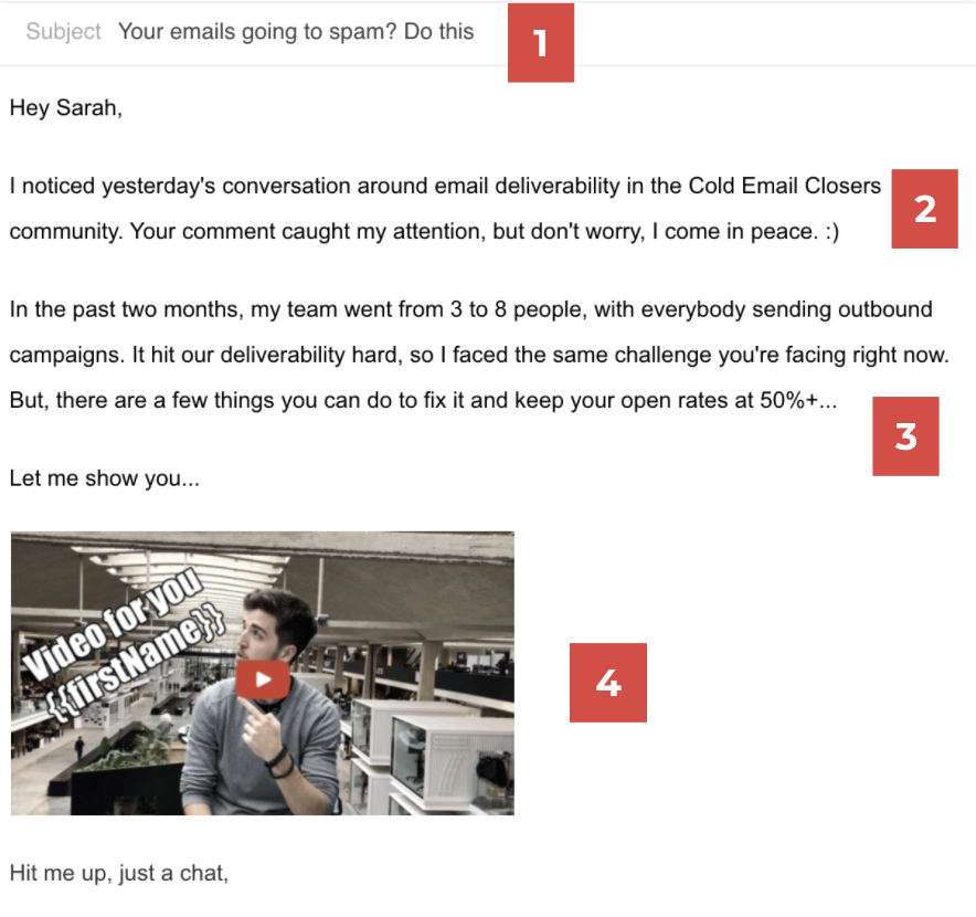 prevent emails from going spam