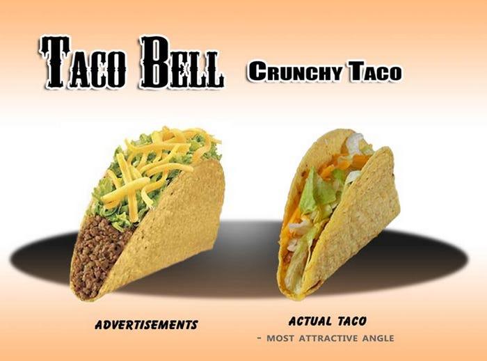 taco fake advertisements