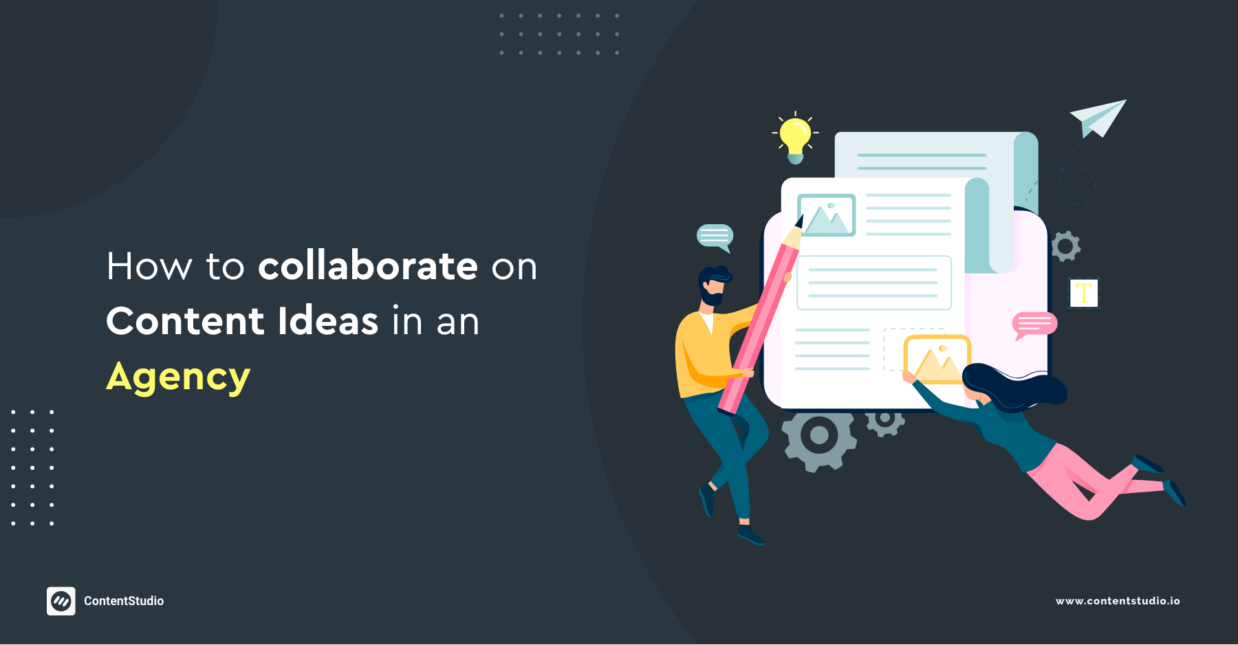 collaborate content ideas in agency
