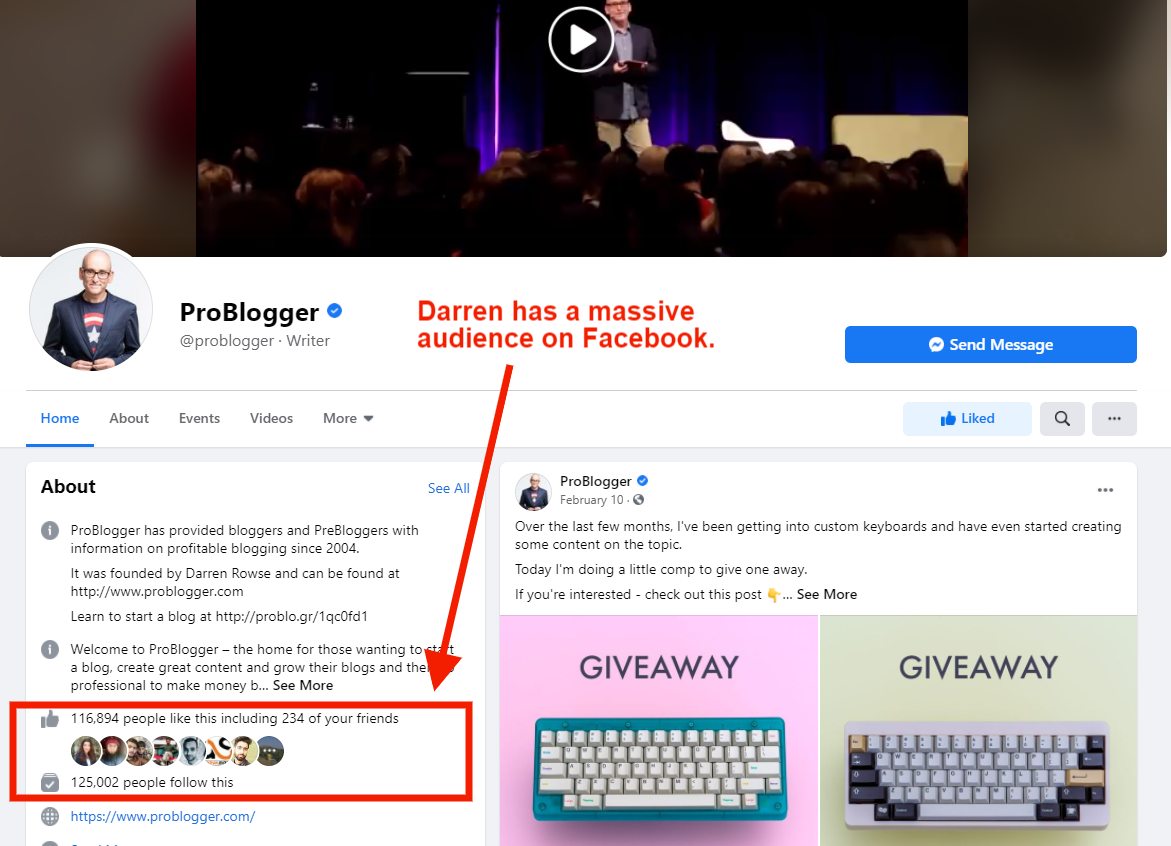 darren rowse facebook profile