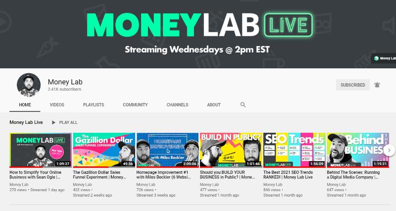 money lab youtube