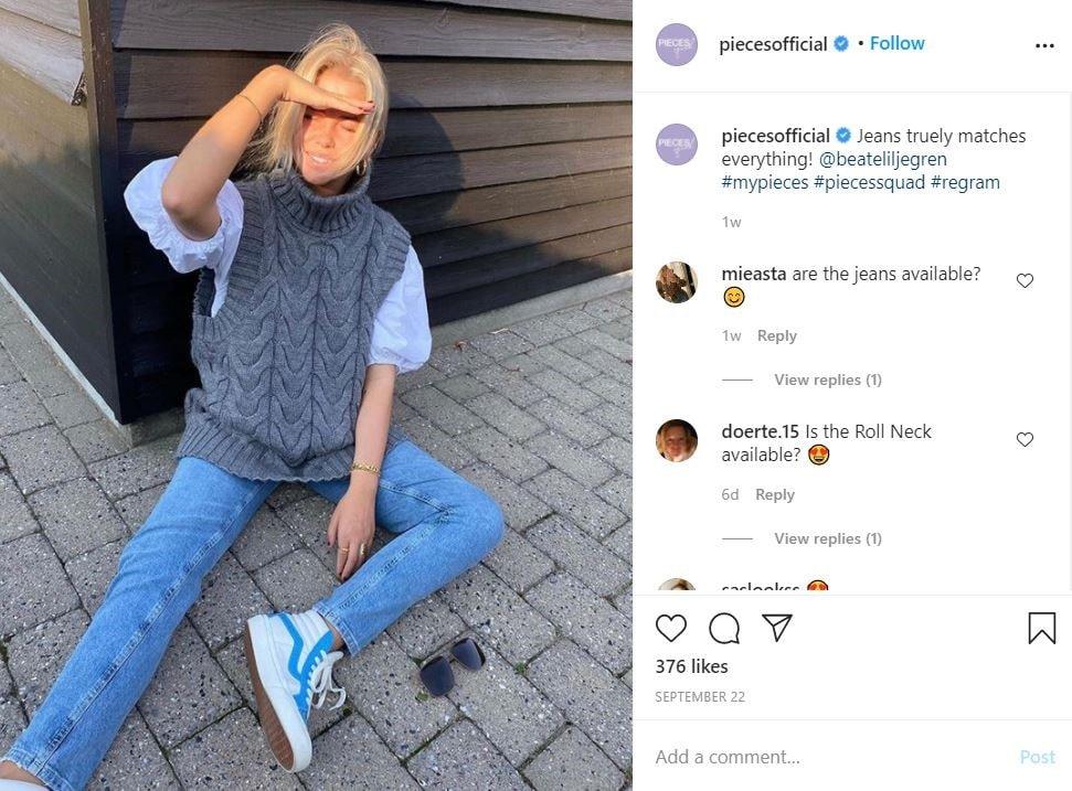 customers' reviews Instagram post