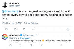 customer comment reply on twitter