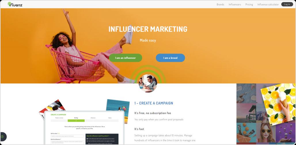 influenz- Instagram influencer marketing