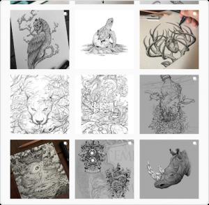 Artistic Instagram grid example