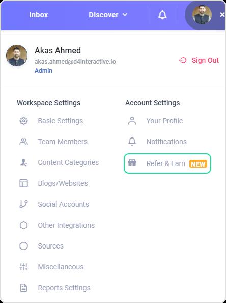 Refer and earn Social Media Management